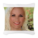 Us Woman U.s. Girl American Woven Throw Pillow