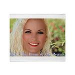 Us Woman U.s. Girl American Beauty Throw Blanket