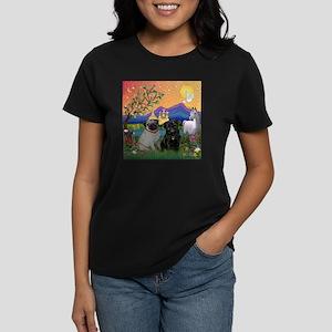 Fantasy Land / Two Pugs Women's Dark T-Shirt