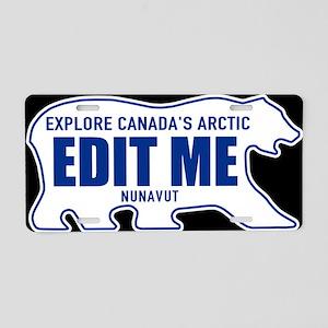 Nunavut Canada Polar Bear Aluminum License Plate