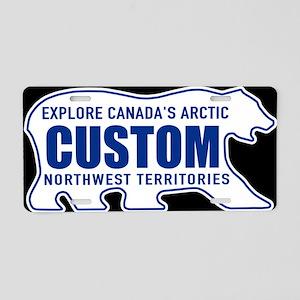 Northwest Territories Bear Aluminum License Plate