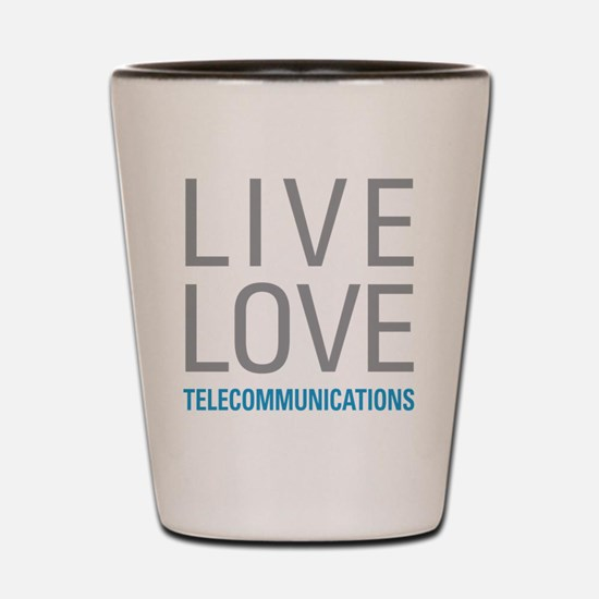 Telecommunications Shot Glass