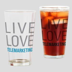 Telemarketing Drinking Glass