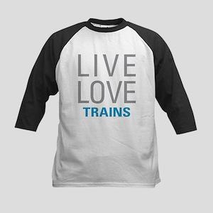 Live Love Trains Baseball Jersey