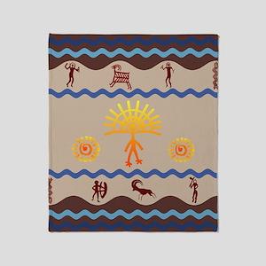 Spirit Path Rock Art Throw Blanket