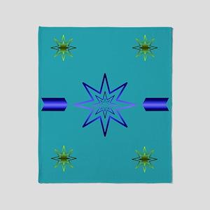 Awakening Star On Turquoise Throw Blanket