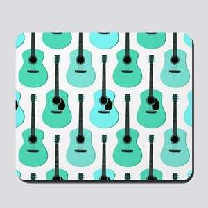 Blue Acoustic Guitars Pattern Mousepad