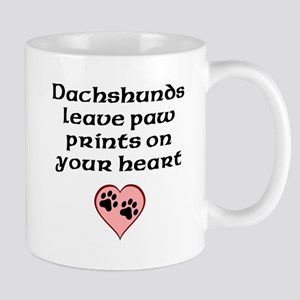 Dachshunds Leave Paw Prints On Your Heart Mugs