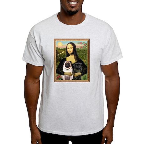 Mona & her 2 Pugs Light T-Shirt