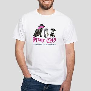 Pirate Cats White T-Shirt