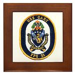 USS GARY Framed Tile