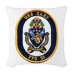 USS GARY Woven Throw Pillow