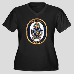 USS GARY Women's Plus Size V-Neck Dark T-Shirt