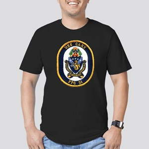 USS GARY Men's Fitted T-Shirt (dark)