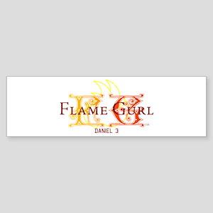 Flame Gurl Bumper Sticker