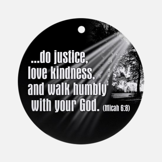 Micah 6:8 Ornament (Round)