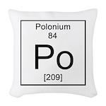 84. Polonium Woven Throw Pillow
