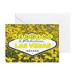 Yellow Flowers WEDDING in Fabulous Las Vegas Card