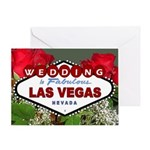 Red Roses WEDDING in Fabulous Las Vegas Card