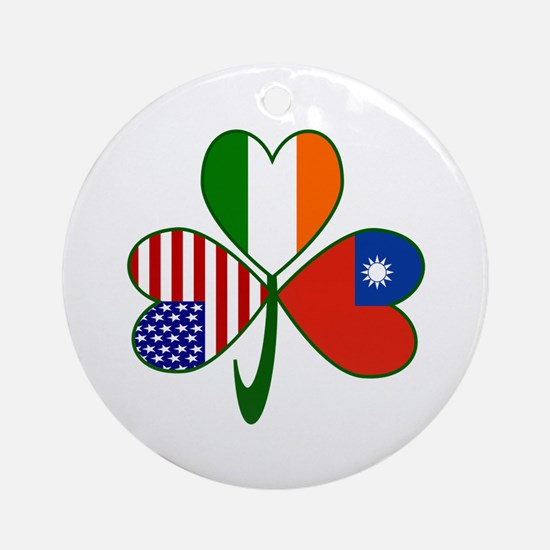 Shamrock of Taiwan China Ornament (Round)