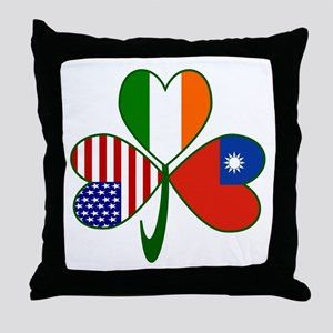 Shamrock of Taiwan China Throw Pillow