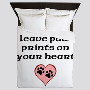 Beagles Leave Paw Prints On Your Heart Queen Duvet