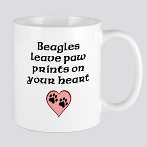 Beagles Leave Paw Prints On Your Heart Mugs