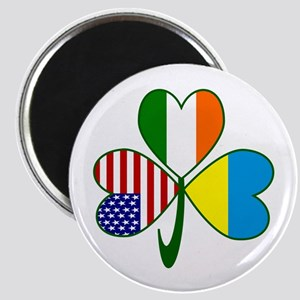 Shamrock of Ukraine Magnet