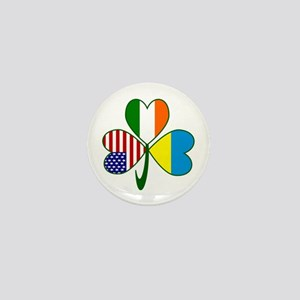 Shamrock of Ukraine Mini Button