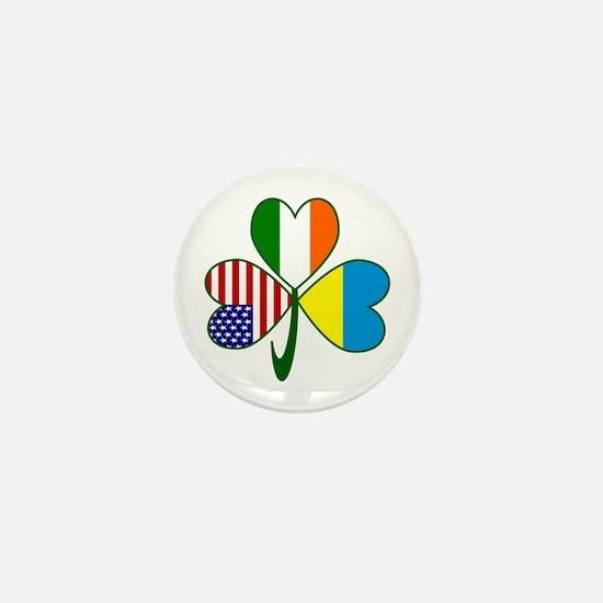 Shamrock of Ukraine Mini Button