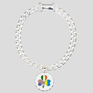 Shamrock of Ukraine Charm Bracelet, One Charm