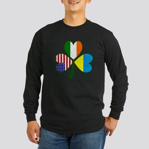 Shamrock of Ukraine Long Sleeve Dark T-Shirt