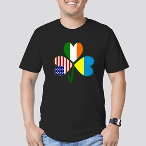 Shamrock of Ukraine Men's Fitted T-Shirt (dark)
