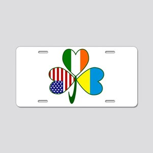 Shamrock of Ukraine Aluminum License Plate