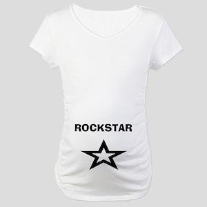 Rockstar Star Maternity T-Shirt