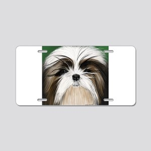 shih tzu puppy Aluminum License Plate