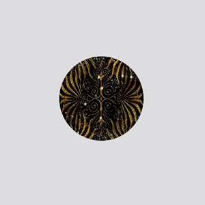 Black and Gold Victorian Sparkle Mini Button