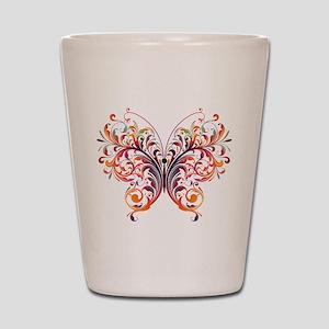 Scroll Butterfly Shot Glass