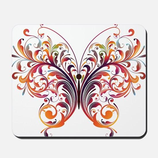 Scroll Butterfly Mousepad