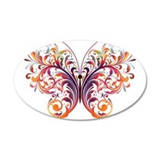 Scroll Butterfly Wall Decal