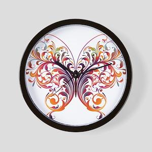 Scroll Butterfly Wall Clock