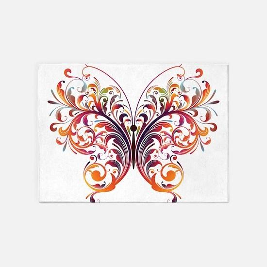 Scroll Butterfly 5'x7'Area Rug