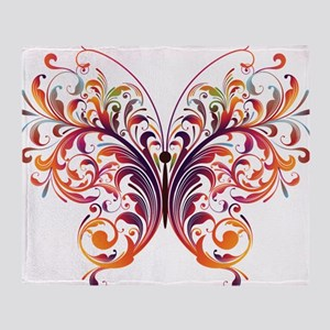 Scroll Butterfly Throw Blanket