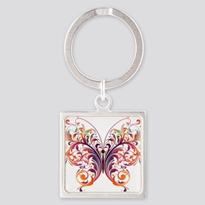 Scroll Butterfly Keychains