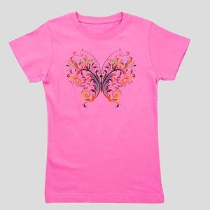 Scroll Butterfly Girl's Tee
