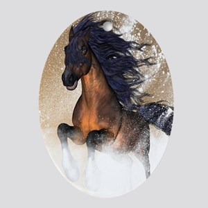 Awesome, beautiful horse Ornament (Oval)