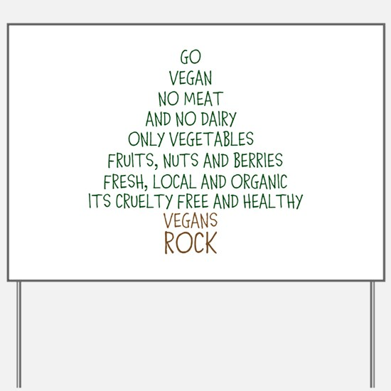 Go Vegan Yard Sign