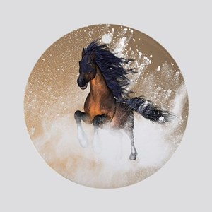 Awesome, beautiful horse Ornament (Round)