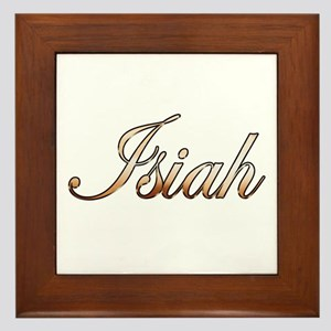 Gold Isiah Framed Tile