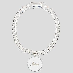 Gold Jaime Charm Bracelet, One Charm